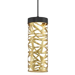 Golden Eclipse Cylinder LED Mini Pendant Light
