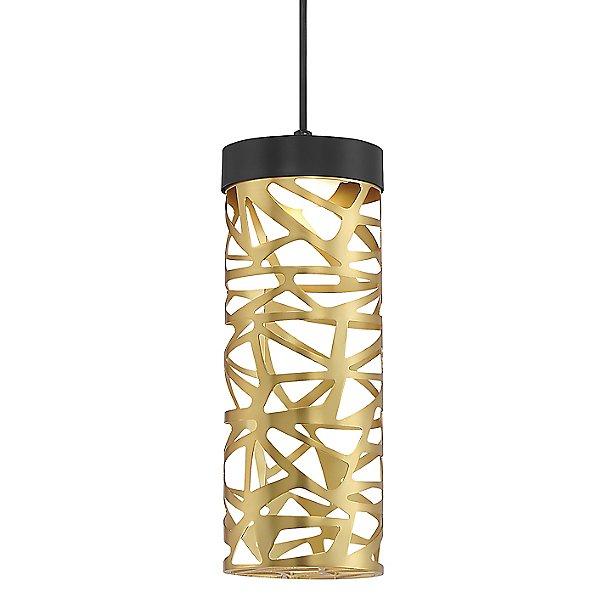 Golden Eclipse Cylinder LED Mini Pendant Light