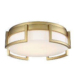 Bezel Set LED Flush Mount Ceiling Light