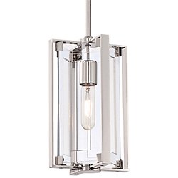 Crystal-Clear 1 Light Mini Pendant Light