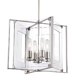 Crystal-Clear 4 Light Pendant Light