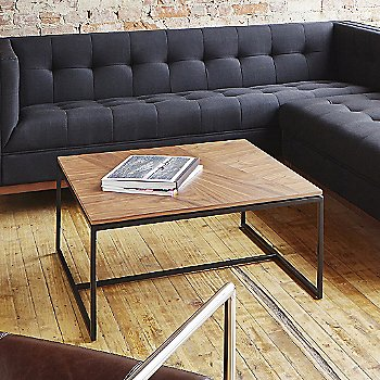 Walnut color, in use in living room
