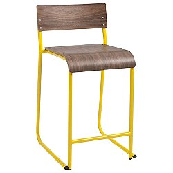 Church Stool (Canary Yellow/Walnut) - OPEN BOX RETURN