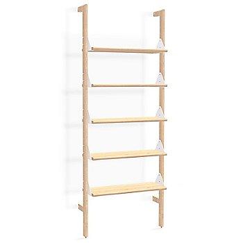 Blonde Uprights White Brackets Blonde Shelves finish / 1 Shelf