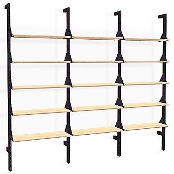 Black Uprights Black Brackets Blonde Shelves finish / 3 Shelves