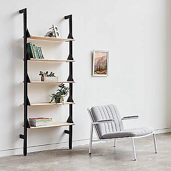 Black Uprights Black Brackets Blonde Shelves finish / 1 Shelf