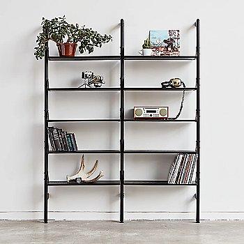 Black Uprights Black Brackets Black Shelves finish / 2 Shelves