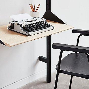 Black / Blond shelves – desk detail