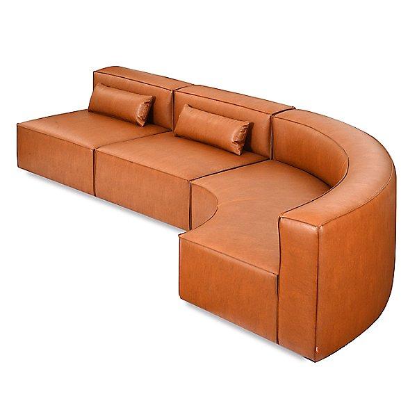 Mix Modular Vegan Leather Arc Sofa