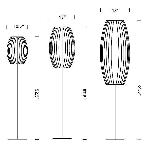Nelson Cigar Lotus Floor Lamp