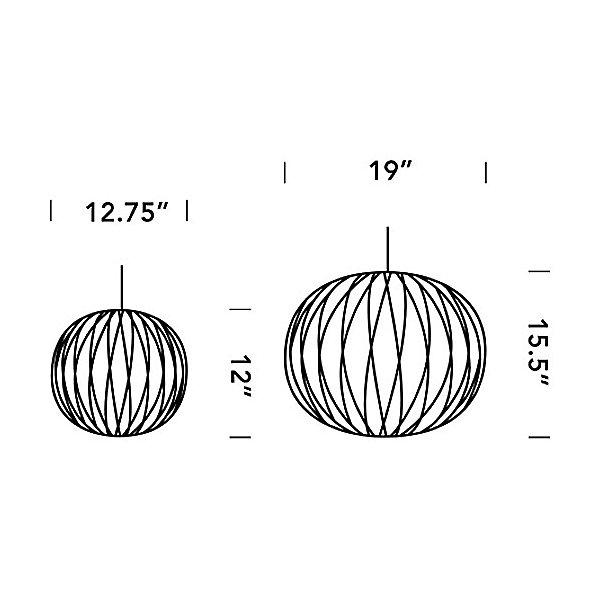 Nelson Ball Crisscross Bubble Pendant