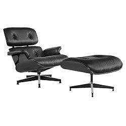 Eames Lounge Chair with Ottoman, Ebony
