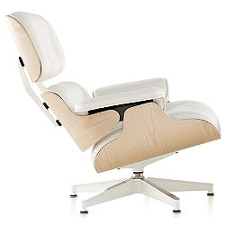 Eames Lounge Chair, White Ash