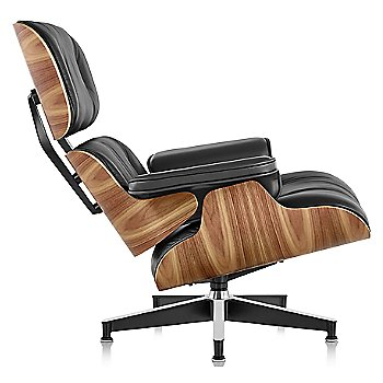 Shown in MCL Leather Black fabric with Walnut frame finish, Tall