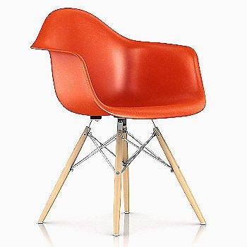 Red Orange / Black Base finish / Natural Maple Leg finish