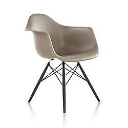 Eames Molded Plastic Armchair with Dowel-Leg Base