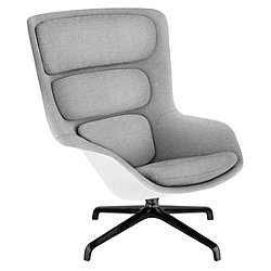 Striad High Back Lounge Chair, 4 Star Base
