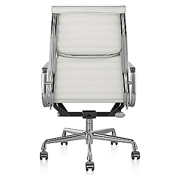 Shown in 2100 Leather Ivory with Polished Aluminum Base/Polished Aluminum Frame with Manual Seat- Height Adjustment