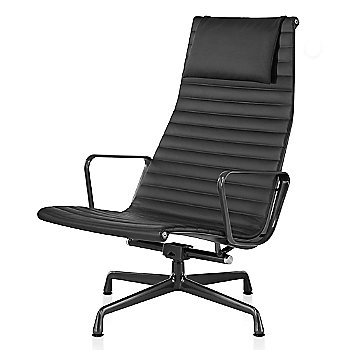 Graphite Satin base finish, 2100 Leather: Black Material, with Headrest