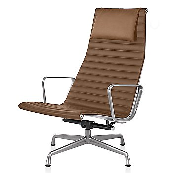 Polished Aluminum base finish, 2100 Leather: Copper Material, with Headrest