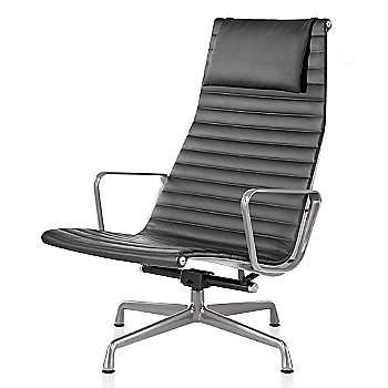 Polished Aluminum base finish, 2100 Leather: Graphite Material, with Headrest