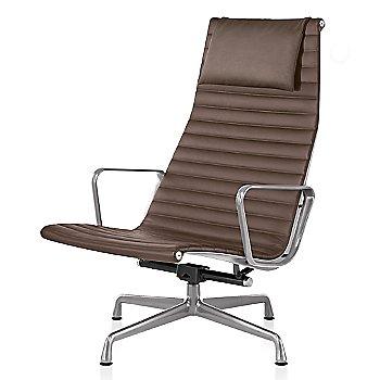 Polished Aluminum base finish, 2100 Leather: Tobacco Material, with Headrest