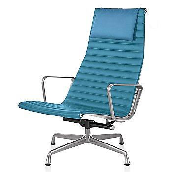 Polished Aluminum base finish, Messenger: Azure Material, with Headrest