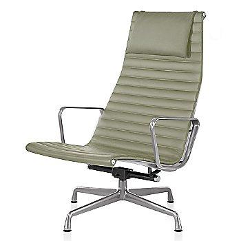 Polished Aluminum base finish, Messenger: Fennel Material, with Headrest