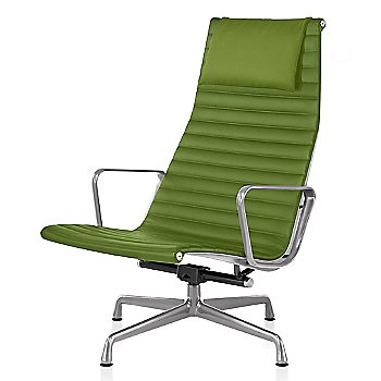Polished Aluminum base finish, Messenger: Neon Material, with Headrest