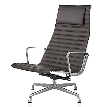 Polished Aluminum base finish, Messenger: Shadow Material, with Headrest