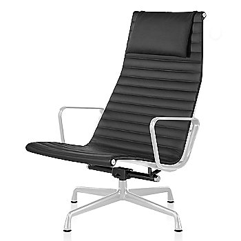 White base finish, 2100 Leather: Black Material, with Headrest