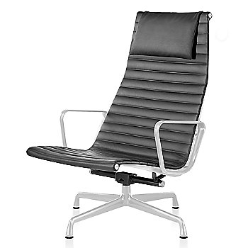 White base finish, 2100 Leather: Graphite Material, with Headrest