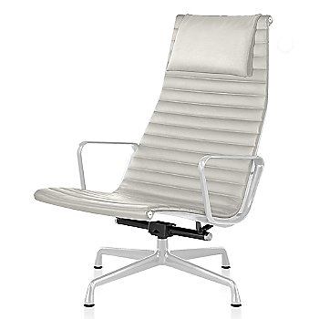 White base finish, 2100 Leather: Ivory Material, with Headrest