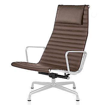 White base finish, 2100 Leather: Tobacco Material, with Headrest