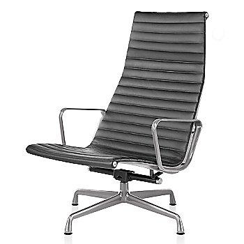Polished Aluminum base finish, 2100 Leather: Graphite Material