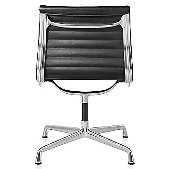 Shown in 2100 Leather Black with Polished Aluminum Base finish with No Arms
