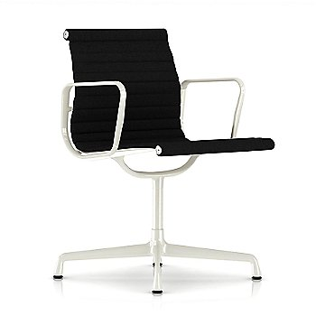 Shown in Onyx fabric with White Base finish with Arms