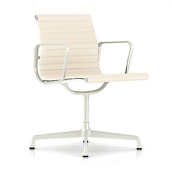 Shown in 2100 Leather Ivory with White base finish with Arms