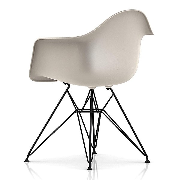 Eames Molded Plastic Armchair With Wire Base