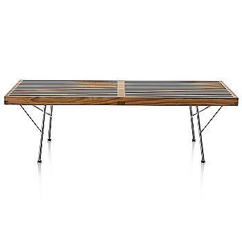 Walnut finish with Trivalent Chrome Base finish / Small / 48-in. Wide