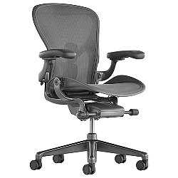 Aeron Size B Office Chair, Carbon