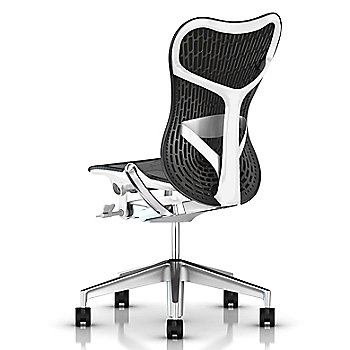 Semi-Polished Base / Studio White Frame / Graphite seat