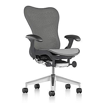 Graphite Fabric / Semi-Polished Base / Graphite Frame / Slate Grey/Slate Grey Latitude Back / Black Arm