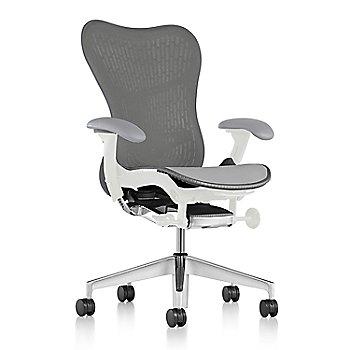 Graphite Fabric / Semi-Polished Base / Studio White Frame / Slate Grey/Slate Grey Latitude Back / Fog Arm