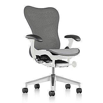 Graphite Fabric / Semi-Polished Base / Studio White Frame / Slate Grey/Slate Grey Latitude Back / Black Arm