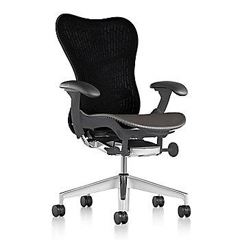 Slate Grey Fabric / Semi-Polished Base / Graphite Frame / Graphite/Black Latitude Back / Black Arm
