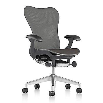 Slate Grey Fabric / Semi-Polished Base / Graphite Frame / Slate Grey/Slate Grey Latitude Back / Black Arm