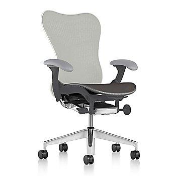 Slate Grey Fabric / Semi-Polished Base / Graphite Frame / Studio White/Slate Grey Latitude Back / Fog Arm