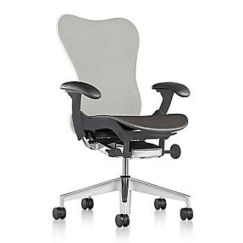 Slate Grey Fabric / Semi-Polished Base / Graphite Frame / Studio White/Slate Grey Latitude Back / Black Arm