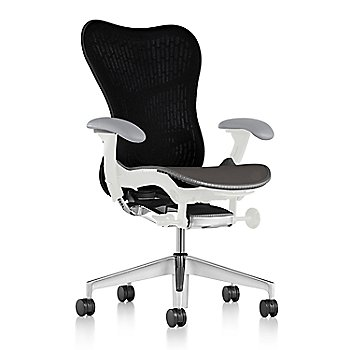 Slate Grey Fabric / Semi-Polished Base / Studio White Frame / Graphite/Black Latitude Back / Fog Arm